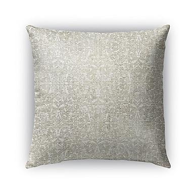 Kavka Florence Burlap Indoor/Outdoor Throw Pillow; 26'' H x 26'' W x 5'' D