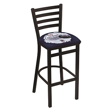 Holland Bar Stool NHL Bar Stool w/ Cushion; Edmonton Oilers
