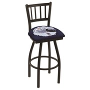 Holland Bar Stool NHL Swivel Bar Stool w/ Cushion; Edmonton Oilers