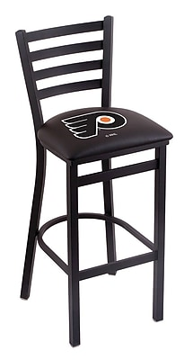 Holland Bar Stool NHL Bar Stool w/ Cushion; Philadelphia Flyers - Black