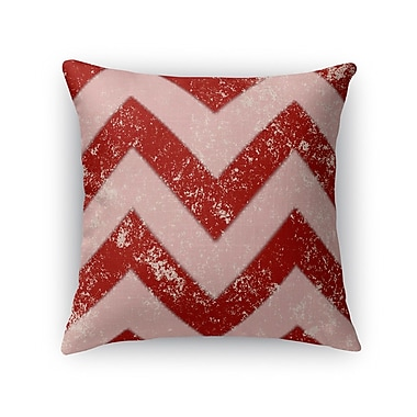 Kavka Candy Cane Chevron Throw Pillow; 16'' H x 16'' W x 5'' D