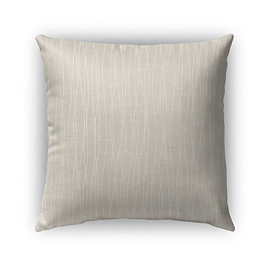 Kavka Latina Burlap Indoor/Outdoor Throw Pillow; 18'' H x 18'' W x 5'' D