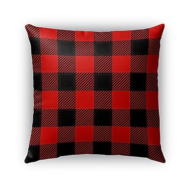 Kavka Lumberjack Burlap Indoor/Outdoor Throw Pillow; 20'' H x 20'' W x 5'' D