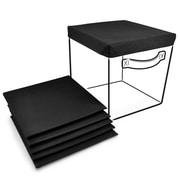 Sorbus Foldable Storage Basket Cover (Set of 6); Black