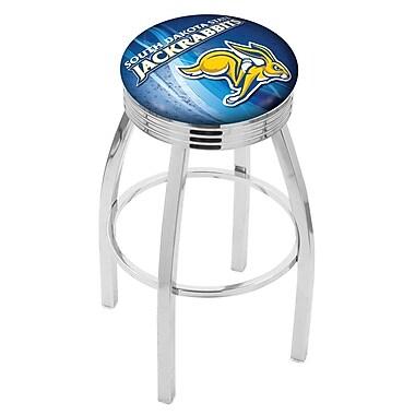 Holland Bar Stool NCAA 30'' Swivel Bar Stool w/ Cushion; South Dakota State Jackrabbits