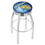 Holland Bar Stool NCAA 25'' Swivel Bar Stool w/ Cushion; South Dakota State Jackrabbits
