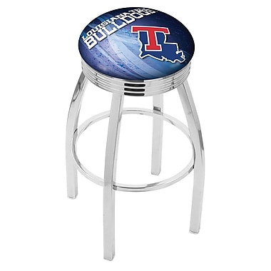 Holland Bar Stool NCAA 25'' Swivel Bar Stool w/ Cushion; Louisiana Tech Bulldogs