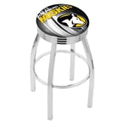 Holland Bar Stool NCAA 25'' Swivel Bar Stool w/ Cushion; Michigan Tech Huskies