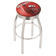Holland Bar Stool NCAA 25'' Swivel Bar Stool w/ Cushion; Western Kentucky Hilltoppers
