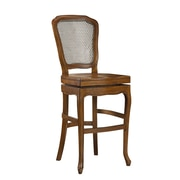 French Heritage Chevernay 30'' Swivel Bar Stool; Coffee Brown