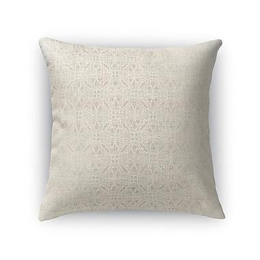 Kavka Portici Burlap Throw Pillow; 16'' H x 16'' W x 5'' D