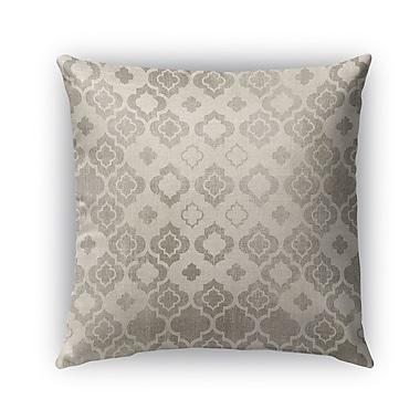 Kavka Trieste Burlap Indoor/Outdoor Throw Pillow; 18'' H x 18'' W x 5'' D