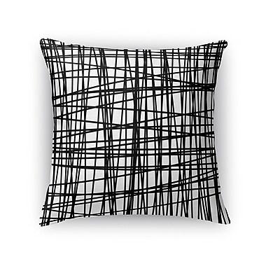 Kavka Lines Burlap Throw Pillow; 16'' H x 16'' W x 5'' D