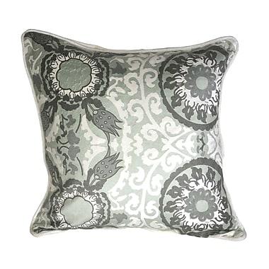 Patina Vie Patina Vie Chambray Suzani 100pct Cotton Throw Pillow