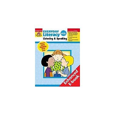 Evan-Moor Educational Publishers Everyday Literacy: Listening And Speaking, Prek Workbook, Preschool [Enhanced eBook]