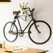 NestedNY 1 Bike Shelf Wall Mounted Bike Rack; Gray