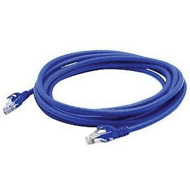 AddOn® ADD-3FCAT6A-BLUE 3' Blue Cat6a Molded Snagless Patch Cable for Network Device
