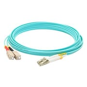 AddOn® ADD-SC-LC-6M5OM3 6 m SC to LC Male/Male Fiber Optic Duplex Patch Cable, Aqua
