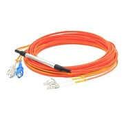 AddOn® CAB-MCP-LC-2M-AO 2 m LC to SC Male/Male Fiber Optic Duplex Patch Cable, Orange