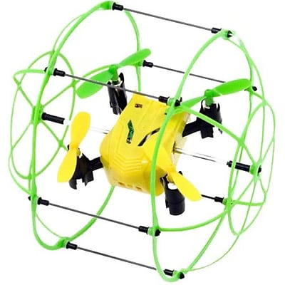 Odyssey Turbo Runner Climbing and Rolling Quadcopter, Green/Yellow (ODY-1012GY)