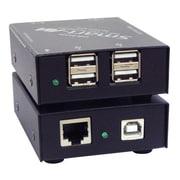 SmartAVI USB2-MINI-S 4-Port USB 2.0/1.1 Over Cat5e/6 Extender, Black