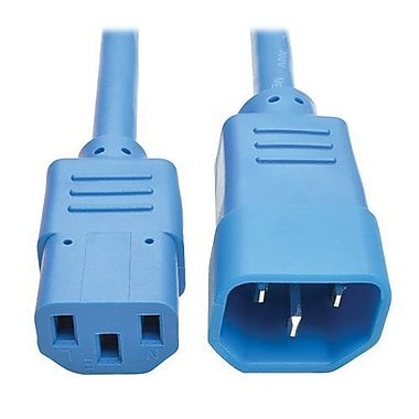Tripp Lite 6' IEC-320-C14 to IEC-320-C13 Male/Female Standard Computer Power Extension Cord, Blue (P004-006-ABL)