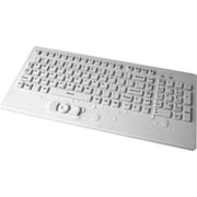 WetKeys® Wired USB Waterproof Industrial Keyboard with Track-Pointer, White (KBWKRC102-CG)