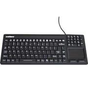 WetKeys® Wired USB Waterproof Industrial Keyboard with Touchpad, Black (KBWKRC106T-BK)