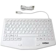 WetKeys® Wired USB Waterproof Industrial Keyboard with Touchpad, White (KBWKRC87T-CG07)