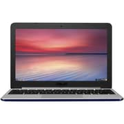 "ASUS® C201PA-DS02PW 11.6"" Chromebook, LED, RK3288C 1.8 GHz, 16GB, 4GB, Chrome, Pearl White"