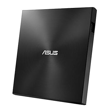 ASUS® SDRW08U7MUBLKGA Ultra-Slim External DVD-Writer, USB 2.0, Black/Silver