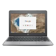 "HP X7T64UA 11.6"" Chromebook, LCD, Celeron N3060 1.6 GHz, 16GB, 4GB, Chrome, Ash Gray/Anodized Silver"