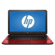 "HP® X3H05UA 15.6"" Notebook, LCD, Core i3-5005U 2 GHz, 1TB, 4GB, Win 10 Home, Cardinal Red"