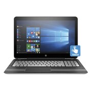 """HP® Pavilion W2L86UA 15.6"""" Notebook, Touch LCD, Core i5-6300HQ 2.3 GHz, 1TB, 12GB, Win 10 Home, Silver/Wood"""