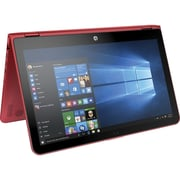 "HP® Pavilion x360 W2M13UA 15.6"" 2-in-1 Notebook, Touch LCD, Core i5-6200U 2.3 GHz, 1TB, 6GB, Win 10 Home, Cardinal Red"