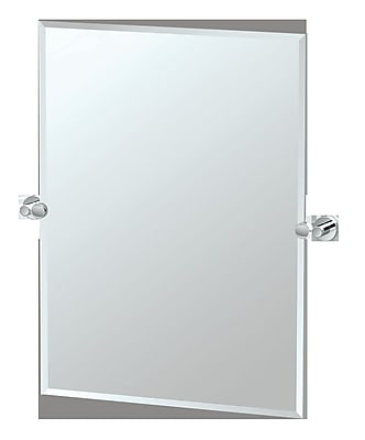 Gatco Glam Rectangle Wall Mirror; Chrome