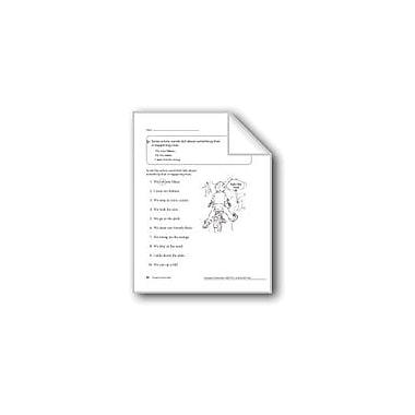 Evan-Moor Educational Publishers Present Tense Verbs Workbook, Grade 1 [eBook]