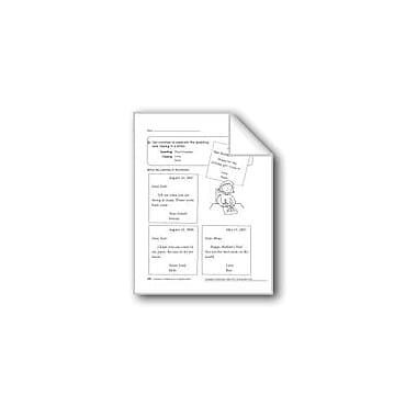 Evan-Moor Educational Publishers Commas In The Greeting & Closing Of A Friendly Letter Workbook, Grade 1 [eBook]