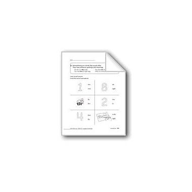 Evan-Moor Educational Publishers Homophones Workbook, Grade 1 [eBook]