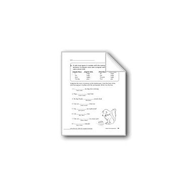 Evan-Moor Educational Publishers Subject-Verb Agreement Workbook, Grade 2 [eBook]