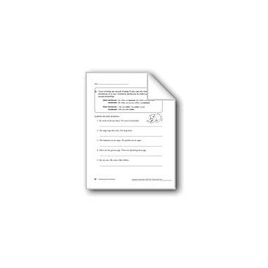 Evan-Moor Educational Publishers Combining Short Sentences Workbook, Grade 2 [eBook]