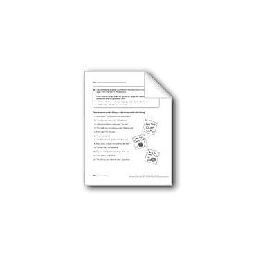 Evan-Moor Educational Publishers Commas & Quotation Marks In Dialogue Workbook, Grade 4 [eBook]