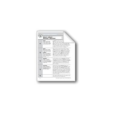 Evan-Moor Educational Publishers Academic Vocabulary, Grade 2: Direct, Indirect, Direction, Directions Workbook [eBook]