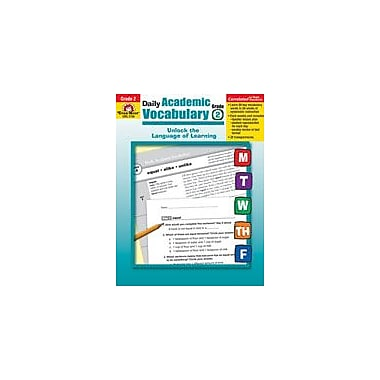 Evan-Moor Educational Publishers Daily Academic Vocabulary Teacher Edition (Grade 2) Workbook, Grade 2 [Enhanced eBook]