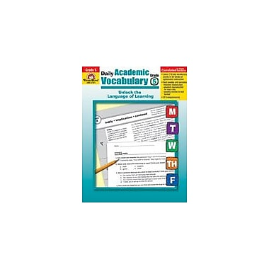Evan-Moor Educational Publishers Daily Academic Vocabulary Teacher Edition (Grade 5) Workbook, Grade 5 [Enhanced eBook]
