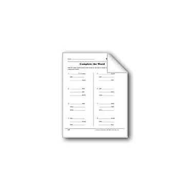 Evan-Moor Educational Publishers Word Play: Complete The Word Workbook, Grade 3 [eBook]