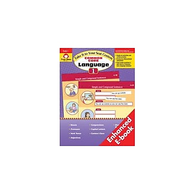 Evan-Moor Educational Publishers Take It To Your Seat Common Core Language Centers, Grade 1 - eBook Workbook, Grade 1 [eBook]