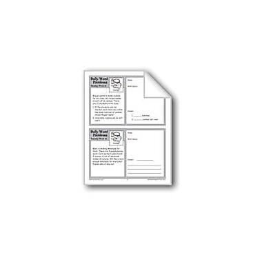 Evan-Moor Educational Publishers Cooking (Grade 3 Daily Word Problems-Week 12) Workbook, Grade 3 [eBook]