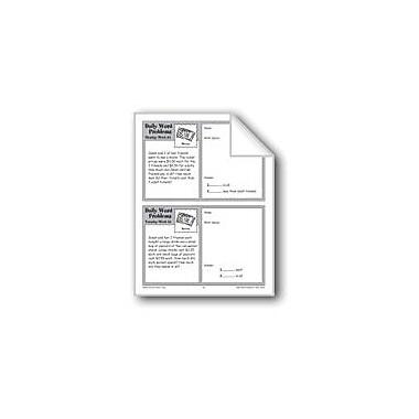 Evan-Moor Educational Publishers Movies (Grade 4 Daily Word Problems-Week 34) Workbook, Grade 4 [eBook]