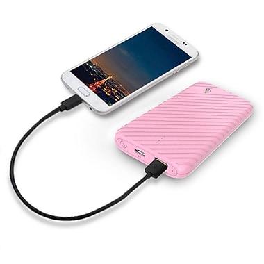 LAX Gadgets Compact USB Power Bank 4000mAh Portable Battery, Pink
